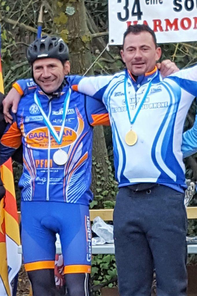 Deux champions cyclocross 2017 des Bouches du Rhône
